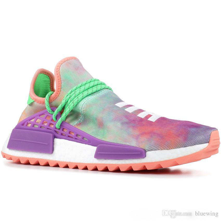 reputable site 411fb 594b3 Compre Adidas NMD Human Race PW Human Race Hu Trail X Hombres Zapatillas De  Running Pharrell Williams Nerd Negro Blanco Crema Tie Dye Sun Glow  Zapatillas ...