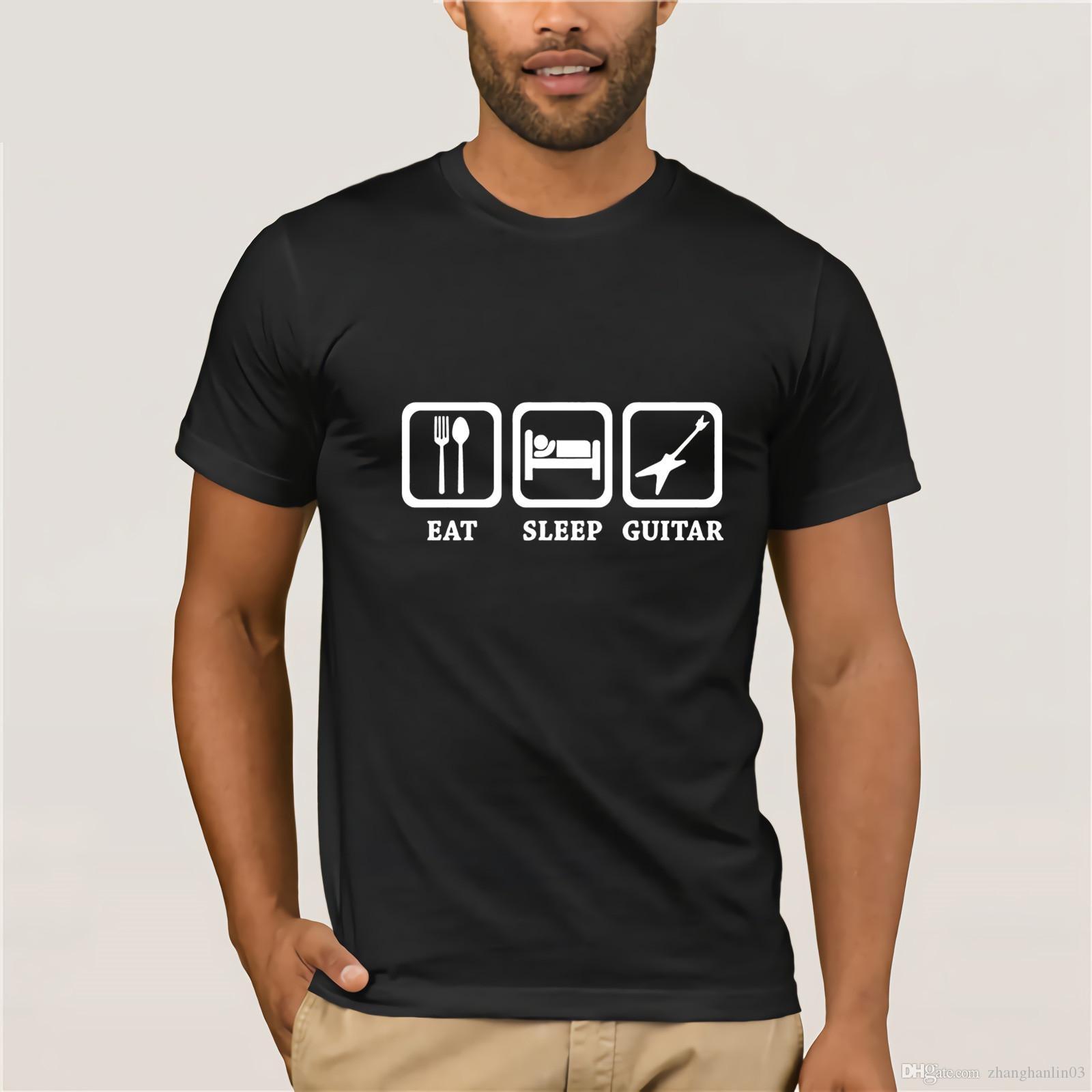 3e788d44c Funny Eat Sleep Guitar T Shirts Men Music Lovers Best Gift T Shirts Homme  Punk Hip Hop Tshirt Splendid Sweetness Music Tee Shirt T Shirt Design  Template ...