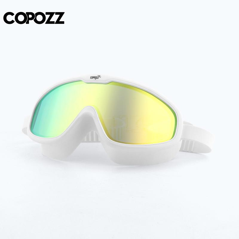8626f2222bc 2019 COPOZZ 2018 Anti Fog Swimming Goggles Whole Shaped Lens UV Protection  With Big Silicone Frame Swimming Glasses For Men And Women C18112201 From  ...