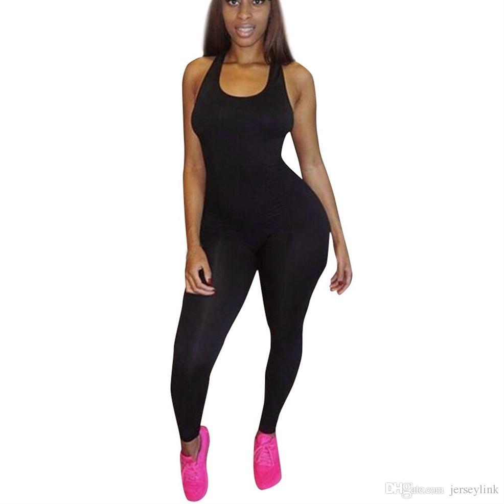 dfa10df49c9 New Sexy Backless Bandage Yoga Jumpsuit Fitness Suit Custome Yoga ...