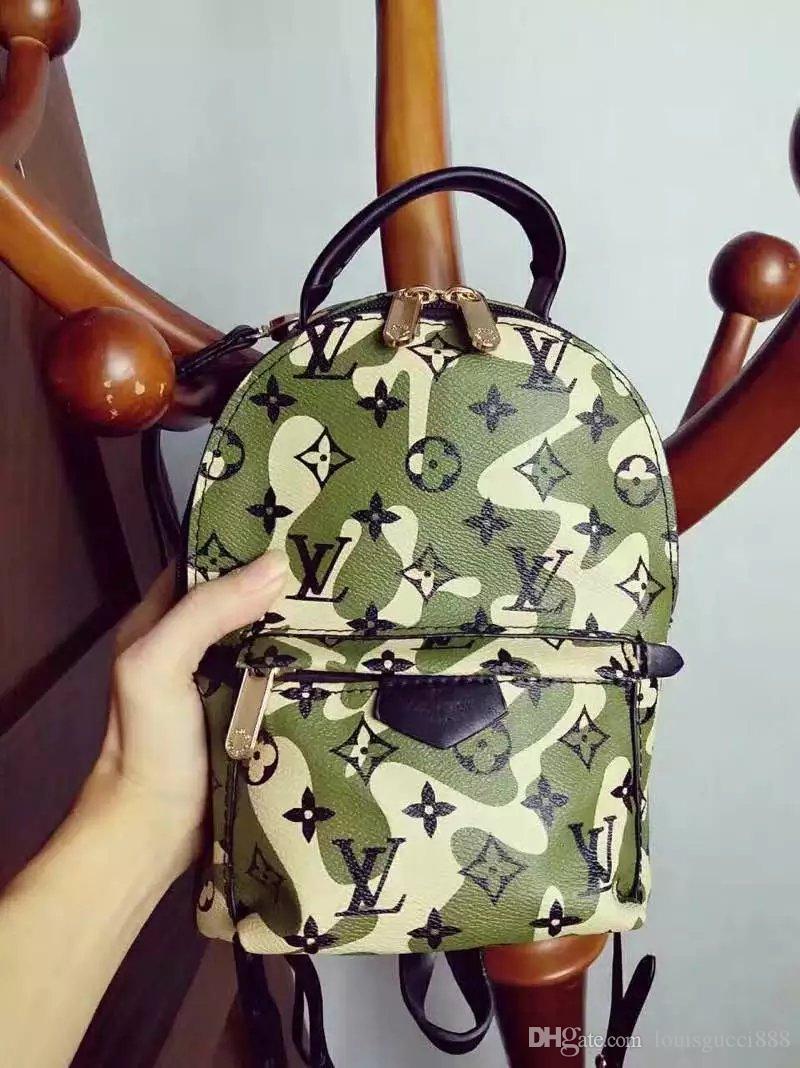 11e605f07985 2019 Hot Sale LOUIS VUITTON SUPREME Mini Backpack Classic Army Green  Camouflage Schoolbag Michael 8 Kor Shoulder Bag Clutch Handbag Messenger  Package LV ...