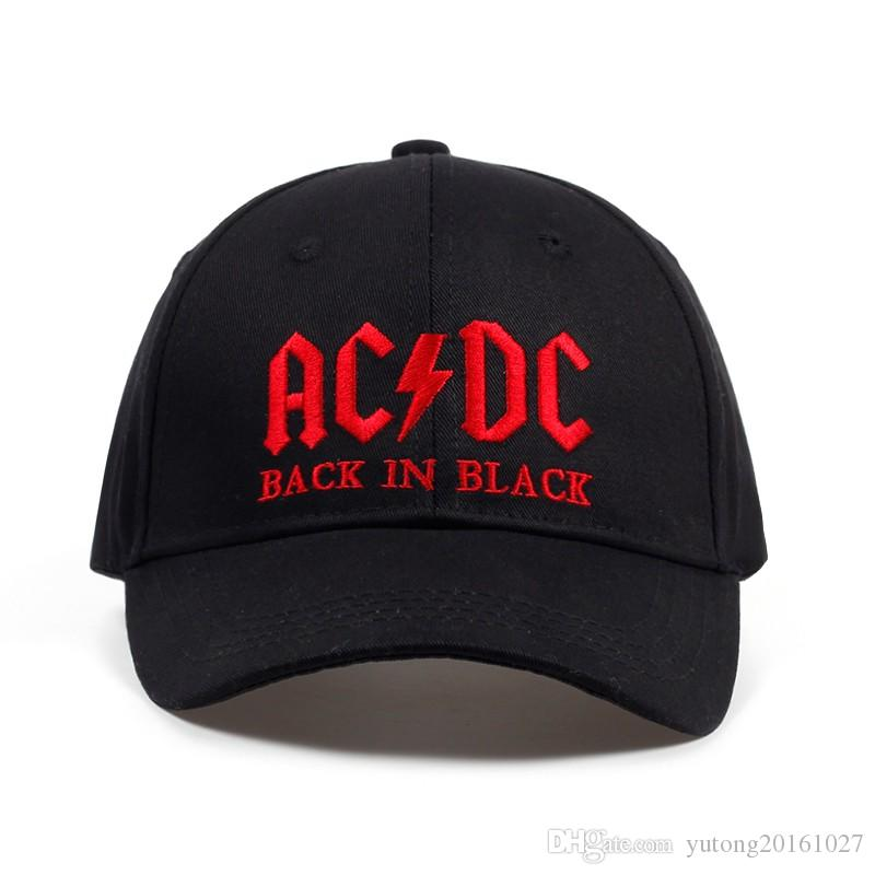 c81909e7ea7 2019 2017 New AC DC Band Baseball Cap Rock Hip Hop Cap Mens Acdc Snapback  Hat Embroidery Letter Casual DJ ROCK Dad Hat From Yutong20161027