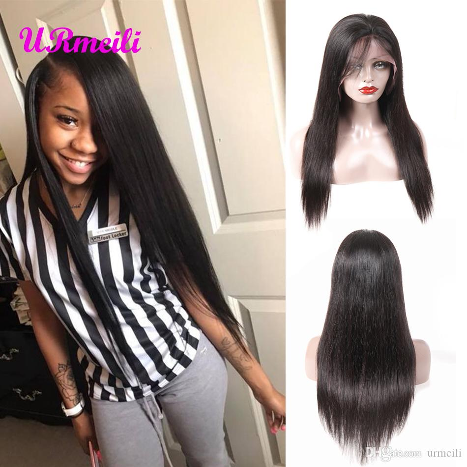360 Human Hair Full Lace Wig Indian Straight