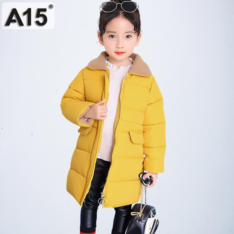45cddb68c A15 2019 girls winter coat toddler clothes parks long size 4 6 8 children's  jackets for girls big kids outerwear teen 10 12 Year
