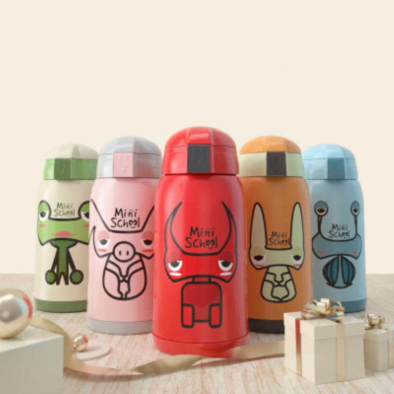 aeadf534d 2019 Babysing 500ML Cartoon Children Water Bottle Kids Straw Thermos  Stainless Steel Vacuum Water Bottle Drinkware Baby Training Kettle Cup From  Roohua