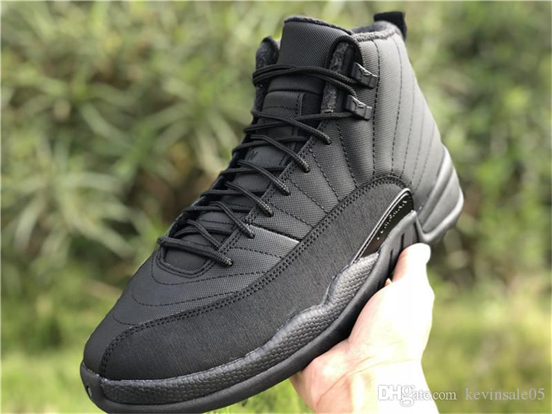 a070316aa7a640 2019 New Released 12 12s Winterized WNTR Men S Basketball Shoes Style Code BQ6851  001 Top Quality XII Triple Black Sport Shoes Size US7 13 From Kevinsale05
