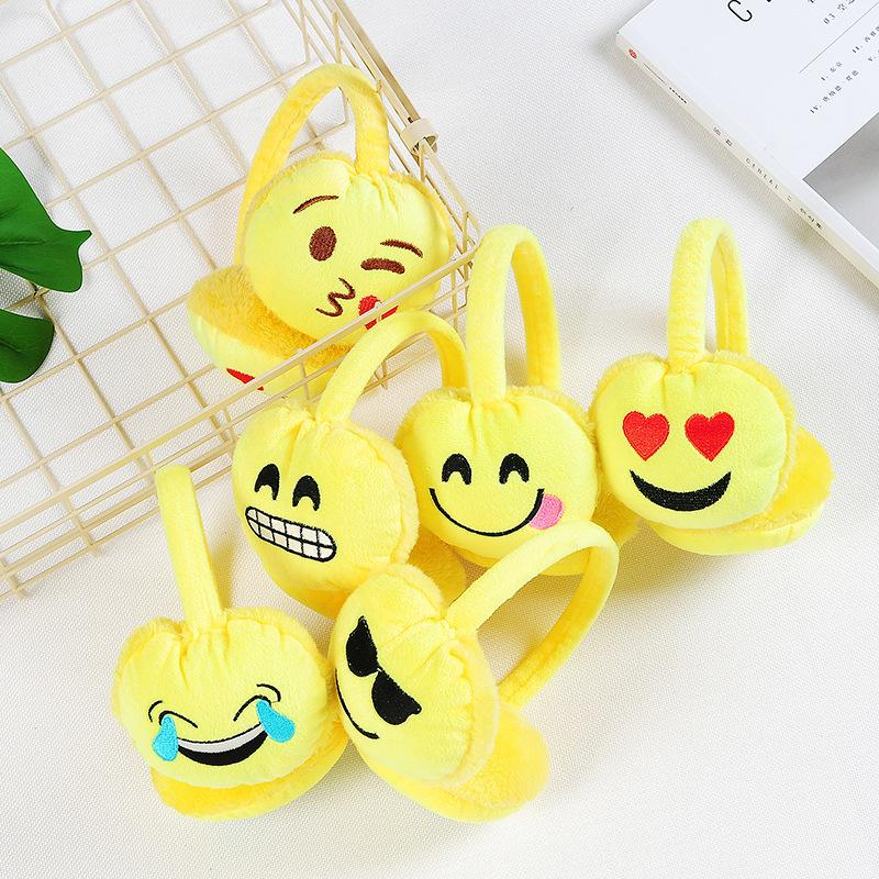 New Adult Winter Women Men Earmuffs Plush Emoji Headband Earmuffs Fashion Emoticon Ear Warmer Earlap For Female Girls Ear Muffs