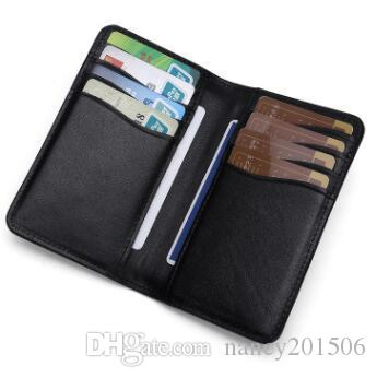 outlet store 6b868 8b5f4 New Slim Credit Card Holder Mini Wallet Mens Head layer cowhide ID Case  Purse Bag Pouch Card Holder