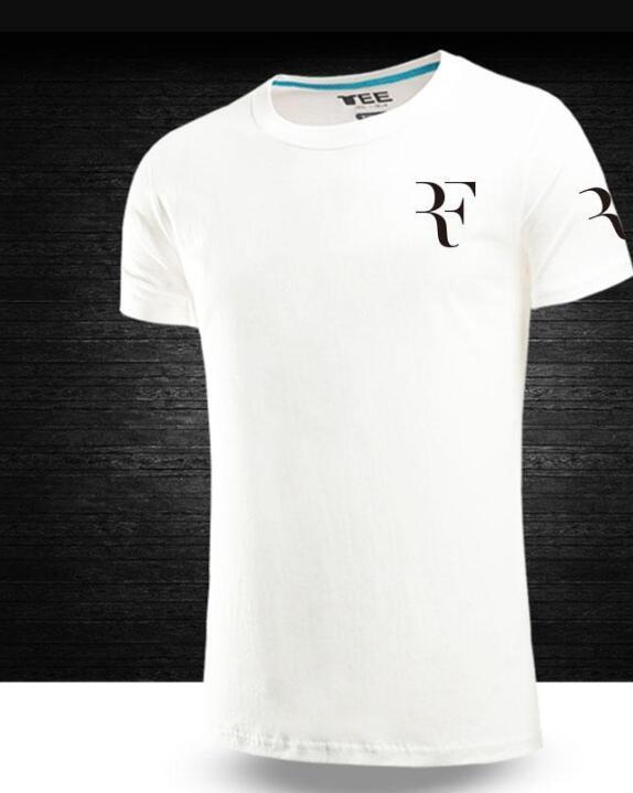 edd2fc746e48 Casual Cotton Women Men Short Sleeve Summer RF Roger Federer T Shirt Tops  Print Couple S Tee Shirts Men T SHIRT Cheap Shirts Designer Shirts From  Wudai
