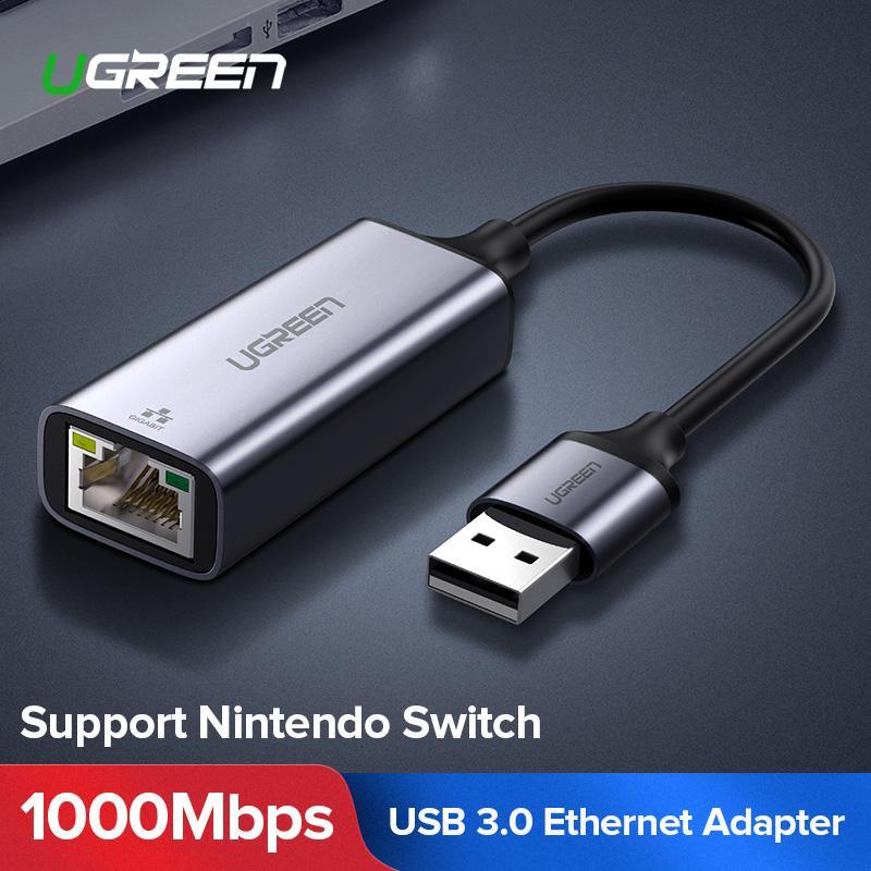 Ugreen USB Ethernet Adapter USB 3 0 2 0 Network Card to RJ45 Lan for  Windows 10 Xiaomi Mi Box 3 Nintend Switch Ethernet