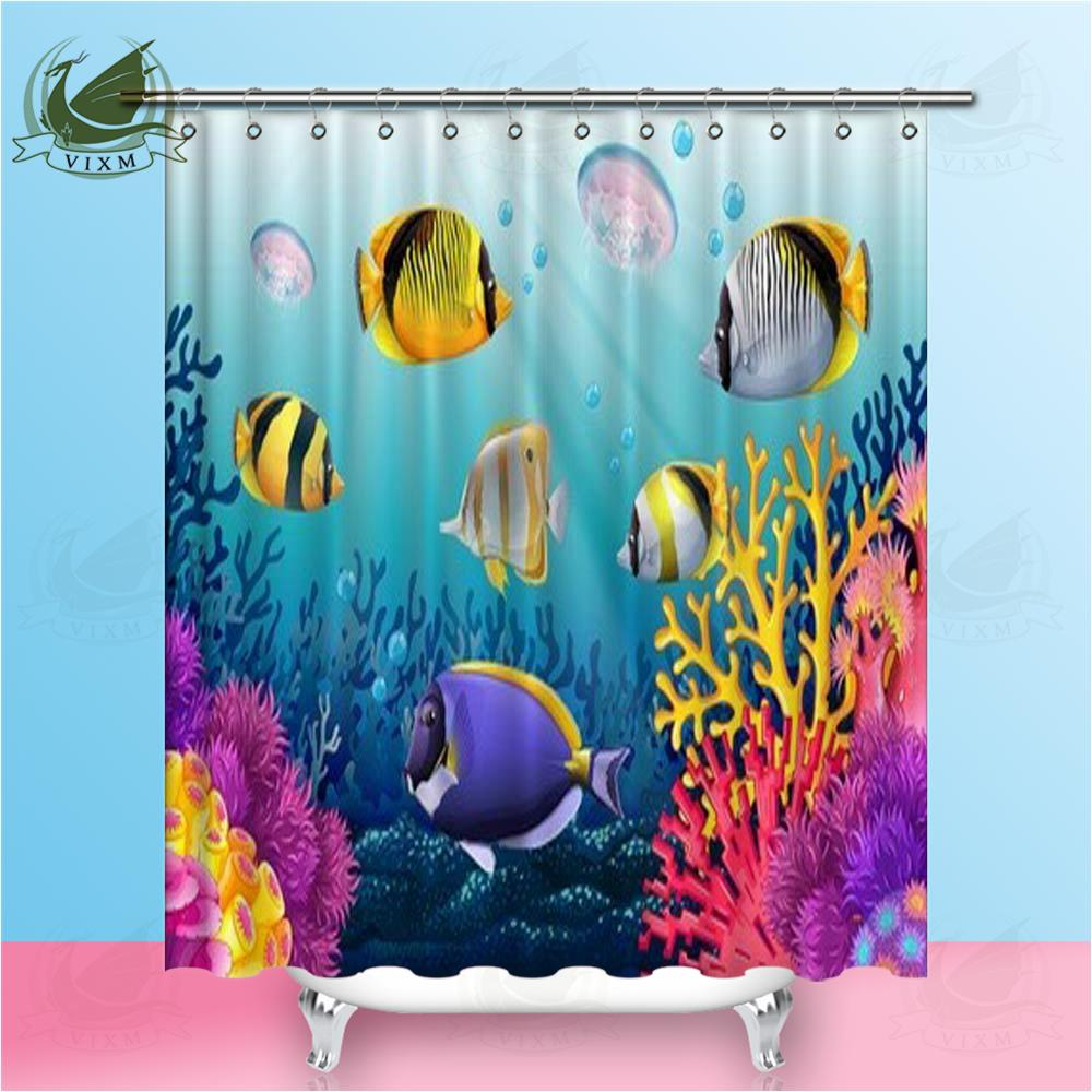 2019 Vixm Photo Of A Tropical Fish In The Red Sea Coral Reef Shower Curtains Polyester Fabric For Home Decor From Bestory 1665