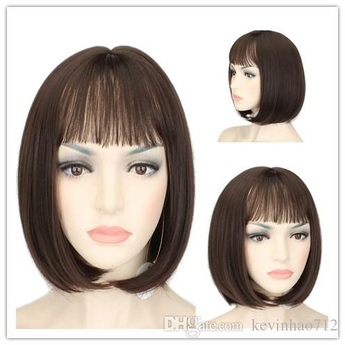 High Quality Short Hair Wig Bob Wig Center Split Short Head Cover Women s  Wigs Synthetic Extension 4A  Synthetic Hair Synthetic Wigs Synthetic  Extension ... 85a8b2551