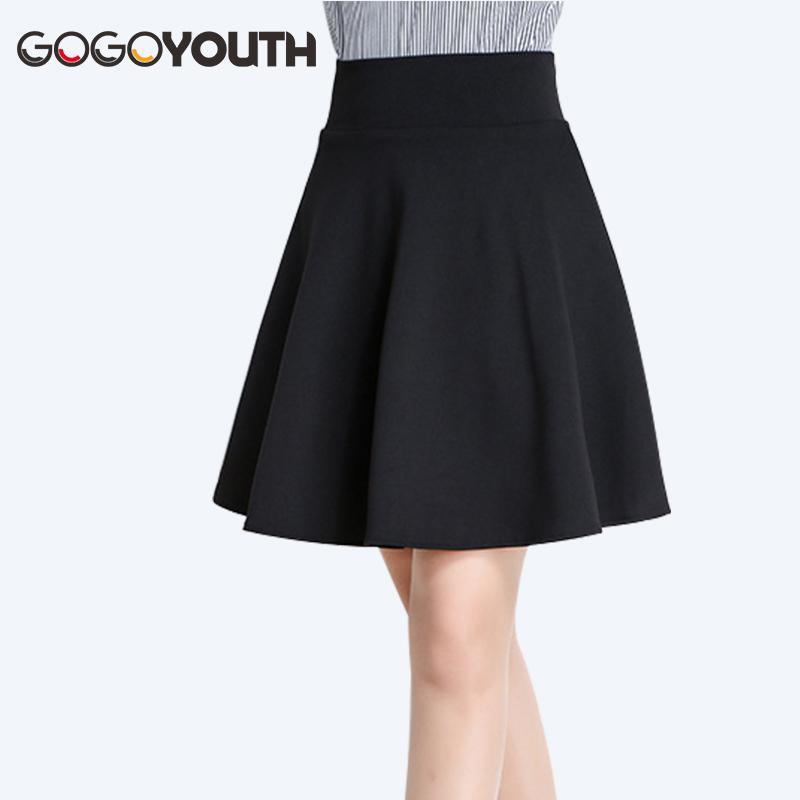 16c1c39bc Gogoyouth Tallas Grandes Faldas Plisadas Para Mujer 2019 Verano Cintura  Alta Midi Shorts Falda Mujer Rojo Negro Señoras Oficina Falda Femme J190426