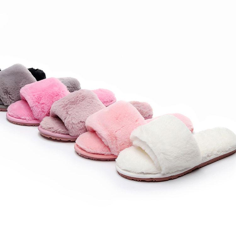 7f42626c898a 2019 New Women Shoes Home Women Cotton Slippers Autumn And Winter Hairy Indoor  Warm Wear Outside Fashion Flat Plush Slippers Womens Ankle Boots Ladies ...