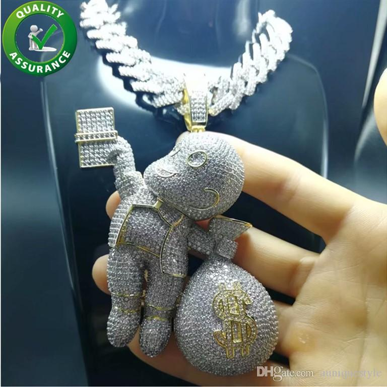 Pleasant Iced Out Pendant Luxury Designer Necklace Hip Hop Jewelry Mens Diamond Tennis Chain Miami Cuban Link Bling Gold Pandora Style Charms Fashion Download Free Architecture Designs Sospemadebymaigaardcom