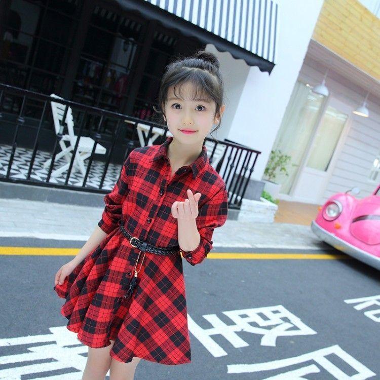 sur des pieds à produit chaud la plus récente technologie Hot bébé fille vêtements été filles robe chemise à carreaux rouge robe  tendance douce robe de princesse belle vêtements bébé fille
