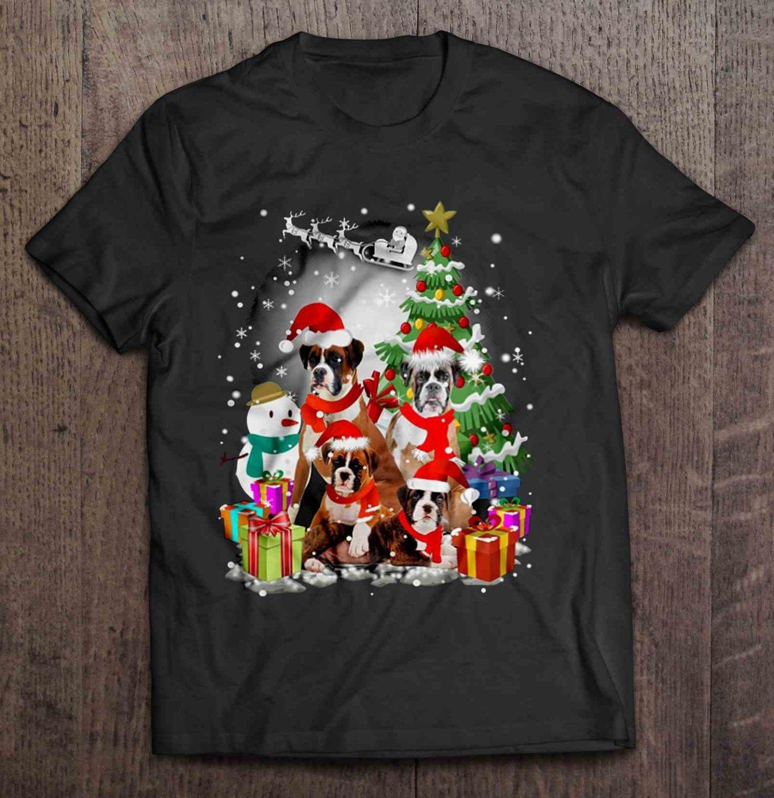 1ffdef67354a7 Boxer Family Christmas Xmas Holiday Gift Ideas S-3XL Official T-Shirt New T  Shirt Top Tee Mens 2018 New Tee