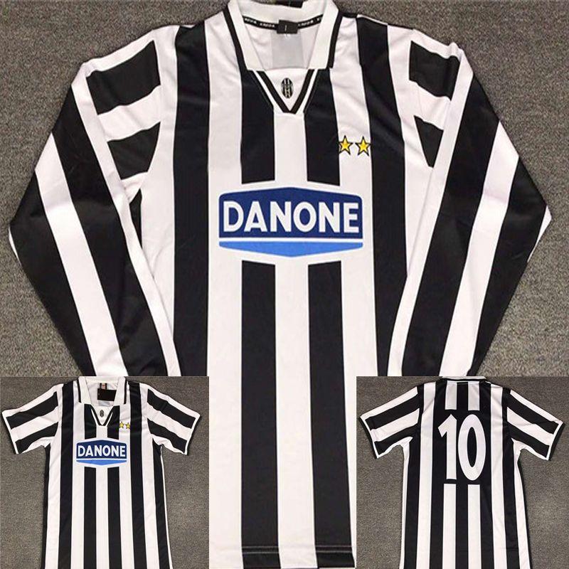 b15a93356 94 95 Del Piero Juventus Retro Soccer Jersey Manga Larga Vintage 1994 1995  Juve Del Piero Camisetas De Fútbol Italia Calcio MAGLIA Camiseta Por ...