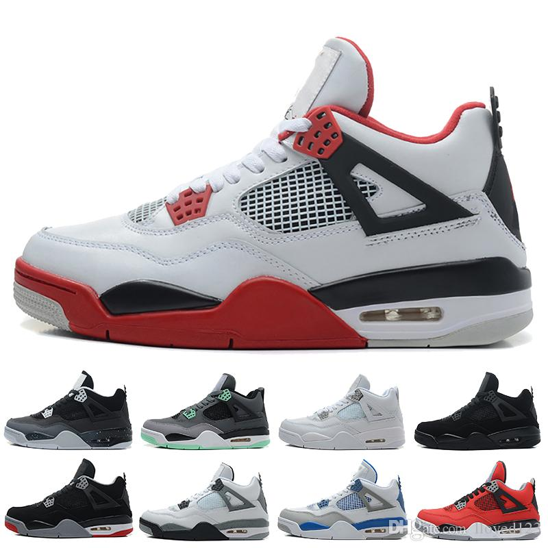 Brand New!4 4s Basketball Shoes Men White Black Grey Watermelon Red  Fluorescent Green Unisex Trainers Sports Sneakers Kd Basketball Shoes Shoes  On Sale From ... 8092c2890505