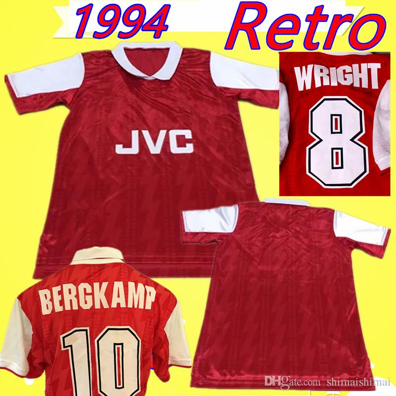 7b875c345 Großhandel Arsenal Jersey   8 Wright   10 Bergkamp 1994 1995 Heimtrikot  Retro 94 95 Klassiker Gedenken Der Antiken Kollektion Trikot Fußball Trikot  Hartson ...
