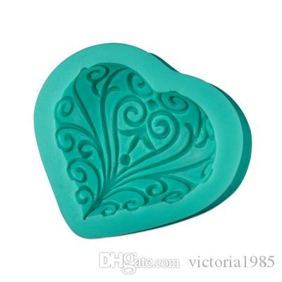 New Creative Wedding Love Heart Shape Silicone Mold Cake Decoration Tools Baking Fondant Mould Handmade Soap Mold
