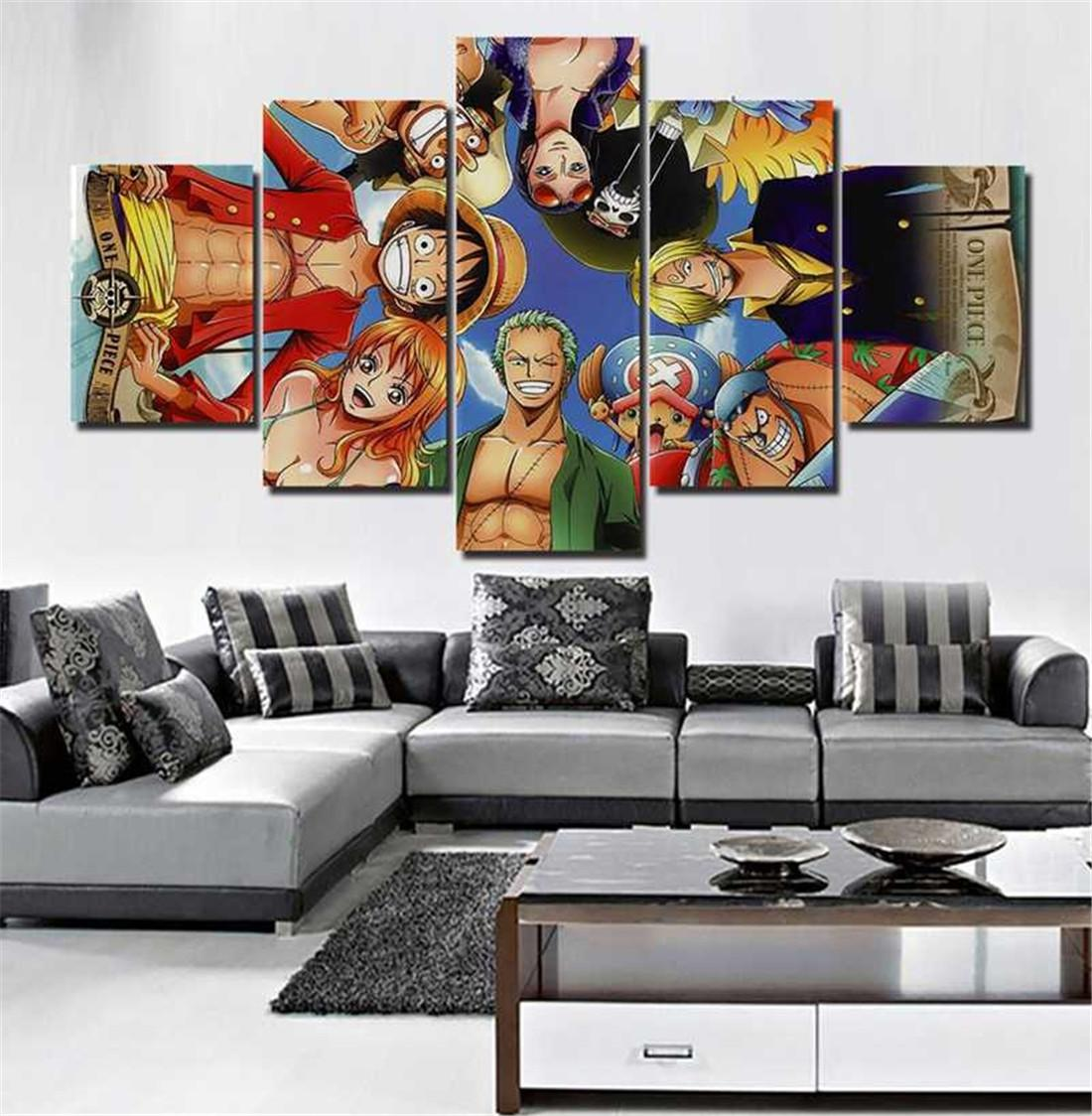 Anime one piece 55 pieces canvas prints wall art oil painting home decor unframed framed