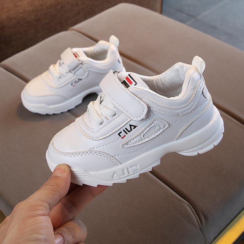0fca60f96 2019 New Children Fashion Sport White Shoes For Girls Boys Soft Bottom Kids  Casual Spring Breathable Sneakers Baby Students Shoes Children Girls Shoes  ...