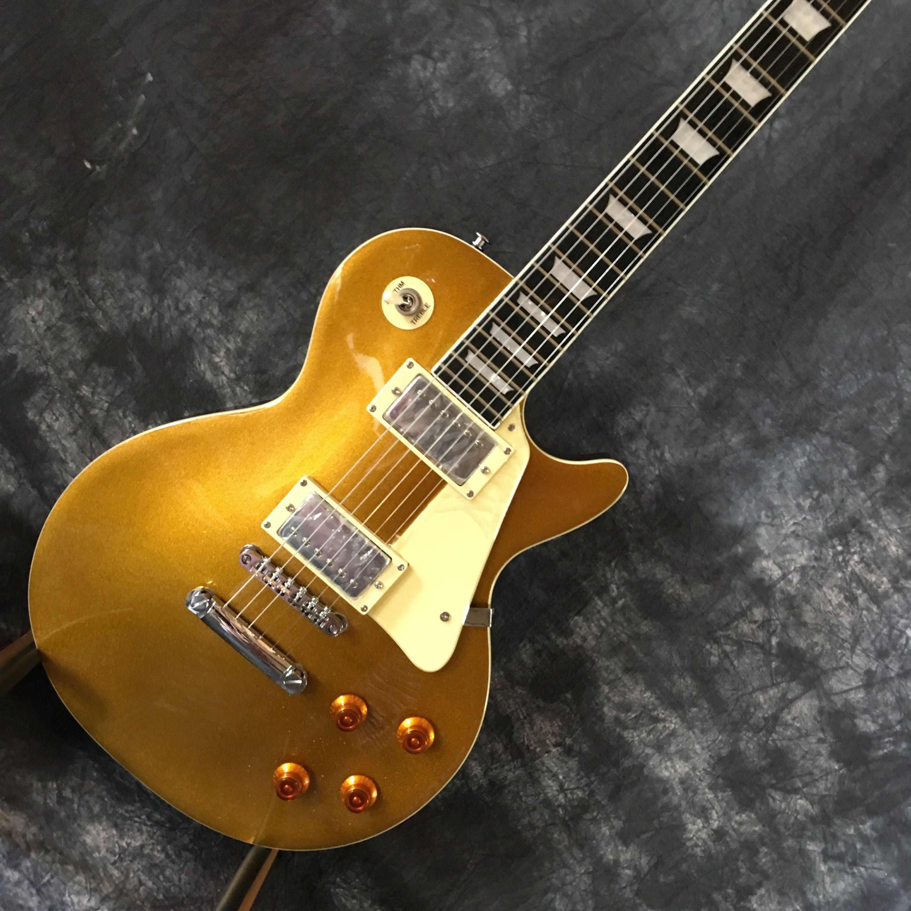 in stock 2018 manufacturer sales new best price wholesale lp custom shop gold electric guitar. Black Bedroom Furniture Sets. Home Design Ideas