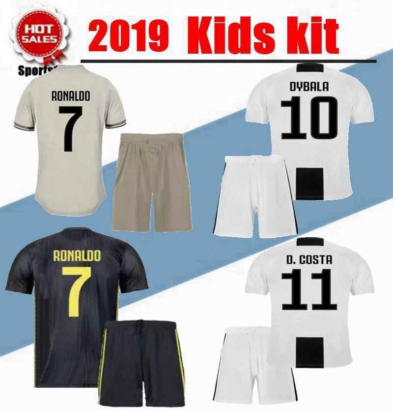premium selection 02deb 7d35a 2019 kids kit juventus soccer jersey ronaldo DYBALA BONUCCI MATUIDI  MARCHISIO MANDZUKIC PJANIC Maillots de football youth boy Kit