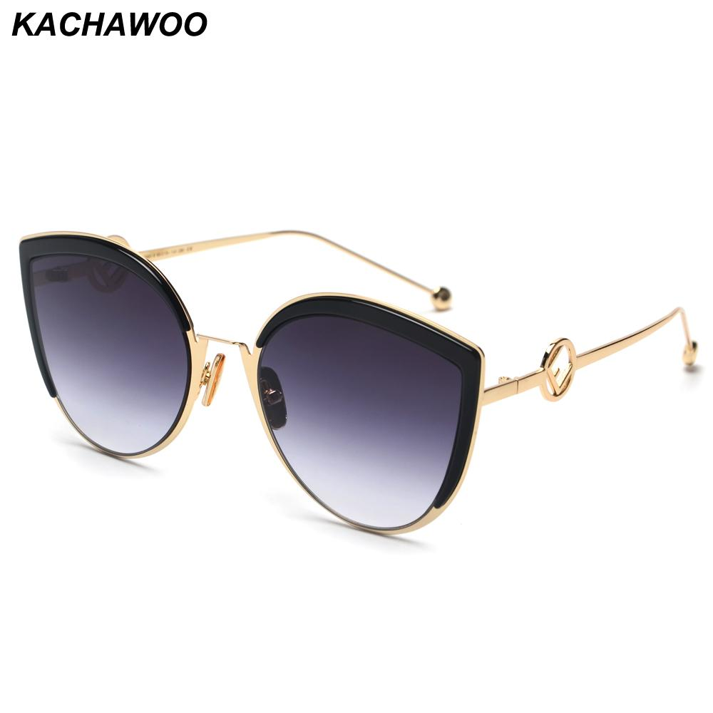 305df494b9 Kachawoo ladies sunglasses cat eye metal frame brown black high jpg  1000x1000 Ladies sunglasses