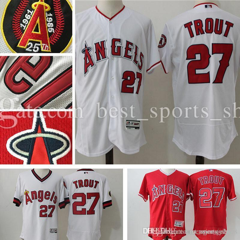 2017 Men s Los Angeles Angels of Anaheim Mike Trout  27 Jerseys ... 998340338