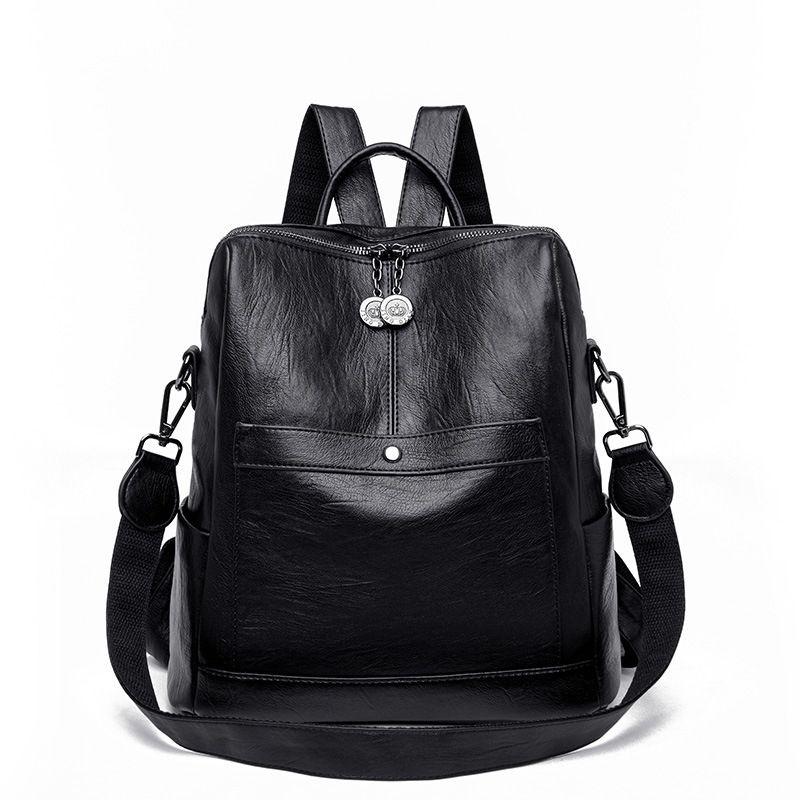 13a39e3df6cc 2019 New Arrival Vintage Backpack Multifunction Women Backpack Soft Pu Washed  Leather Ladies Rucksack Female Shoulder Bag Backpacks For Women Backpacks  For ...