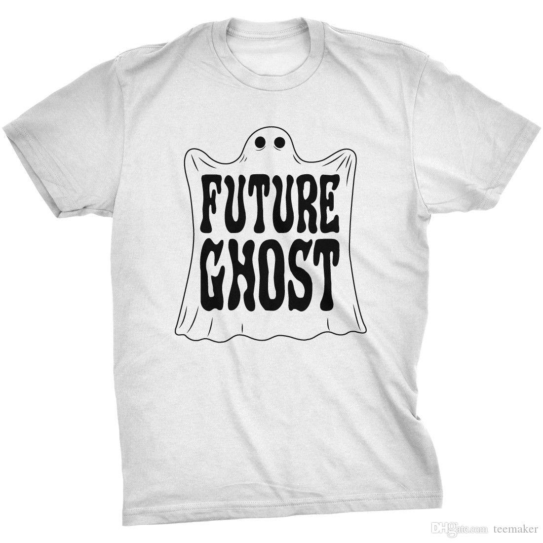 04ff1e702b7 Mens Future Ghost Funny Halloween Costume Tee Spooky Novelty T Shirt T Shirt  Men Man S Rock Custom Short Sleeve Valentine S Big Size Party T Designer  White ...