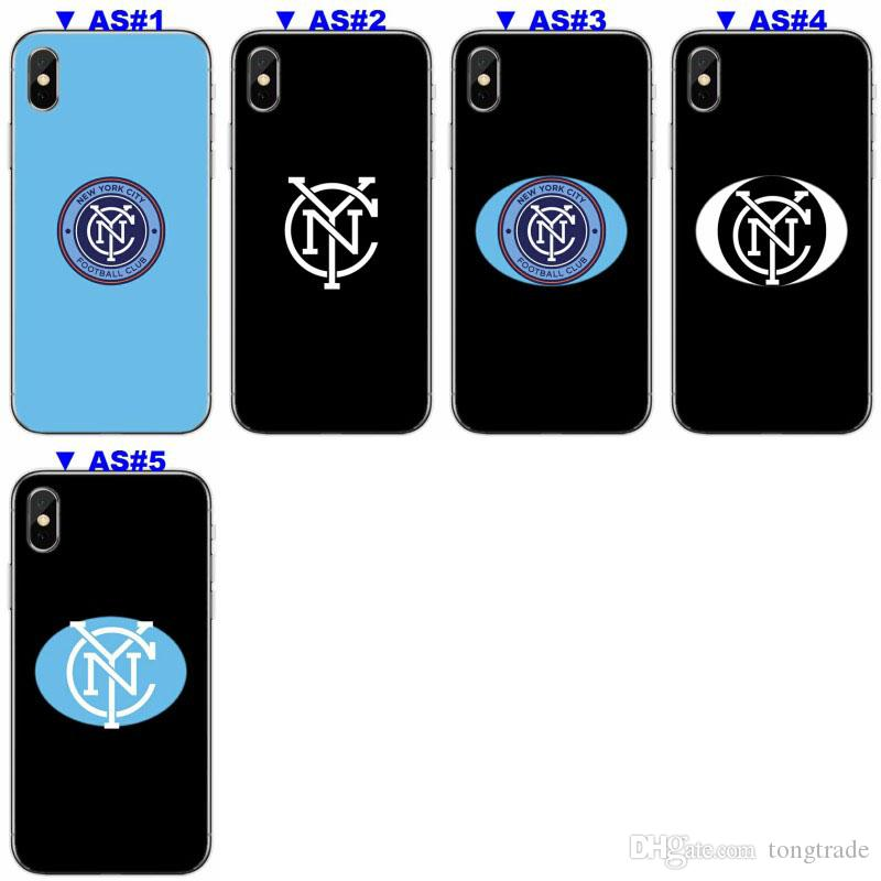 [TongTrade] Soft Silicone TPU Case Cover For iPhone X 8 7 6s 5s Plus New York City FC Coloured Painting Galaxy S9 S8 S7 S6 Edge Plus Case