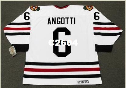 41e0bc81fce 2019 Mens #6 LOU ANGOTTI Chicago Blackhawks 1969 CCM Vintage Retro Hockey  Jersey Or Custom Any Name Or Number Retro Jersey From C2604, $20.11 |  DHgate.Com