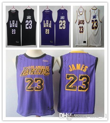 b306e5909f2 2019 LeBron James New Lonzo Ball Kyle Kuzma Brandon Ingram 2019 James Jersey  Basketball Jerseys From Nba 01