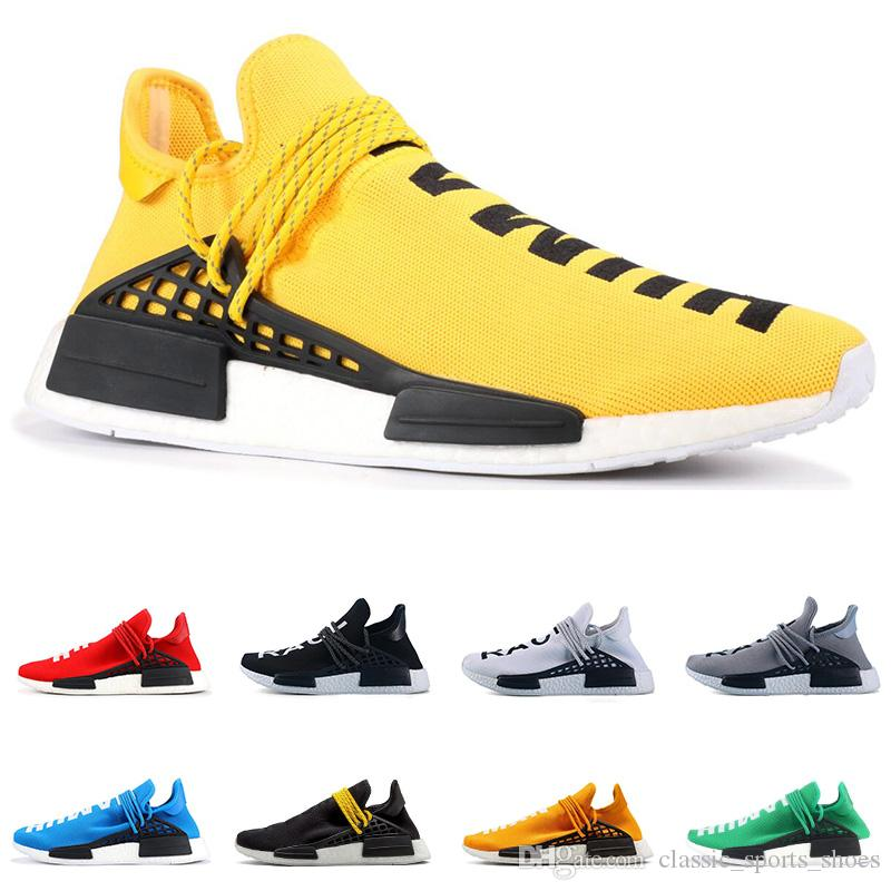 4543aa19454ee 2019 2019 PW Human Race NMD PHARRELL WILLIAMS Men Women Running Shoes  Yellow Red Blue Green Black White Mens Trainer Breathable Sports Sneakers  From ...