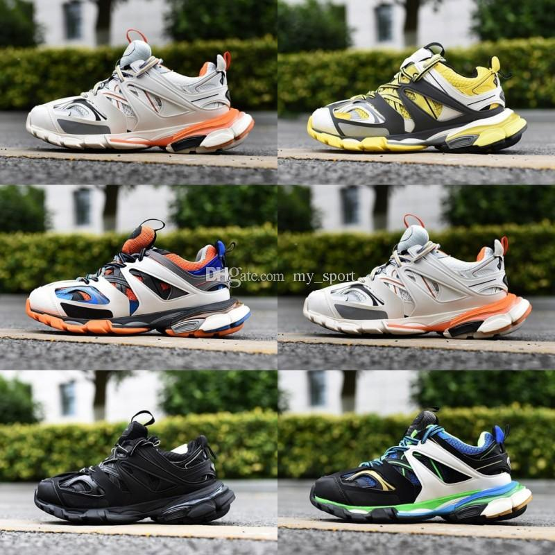 2019 New Designer Track Tess S 3.0 Mens Hiking Shoes Women Orange Blue White Clunky Sneaker Running Shoes Dad Shoes 36 45