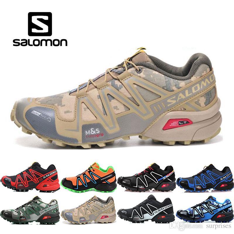 4058ebb657 Compre 2019 Salomon Homens Sapatos Zapatos Hombre Velocidade Cruz 3CS III  Esporte Sapatilhas Dos Homens Preto Ao Ar Livre Atlético Speedcross Salomão  Tênis ...