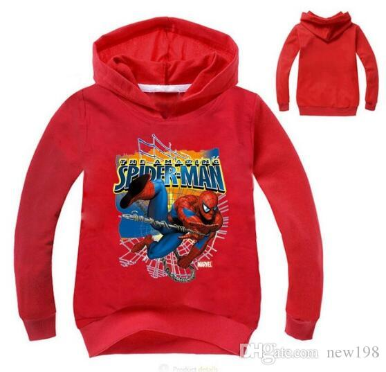 e5407783417 New Kids Clothing Spiderman Autumn Long Sleeve T Shirts Children Boys Girls  Hoodie Cartoon Cotton Tshirt Kids Clothes Spring Jackets For Toddlers Kids  ...