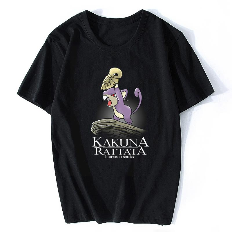 Kakuna Rattata Men T-Shirt Cotton Short Sleeve O-Neck Fashion Streetwear Ulzzang Aesthetic Funny Rock T Shirts