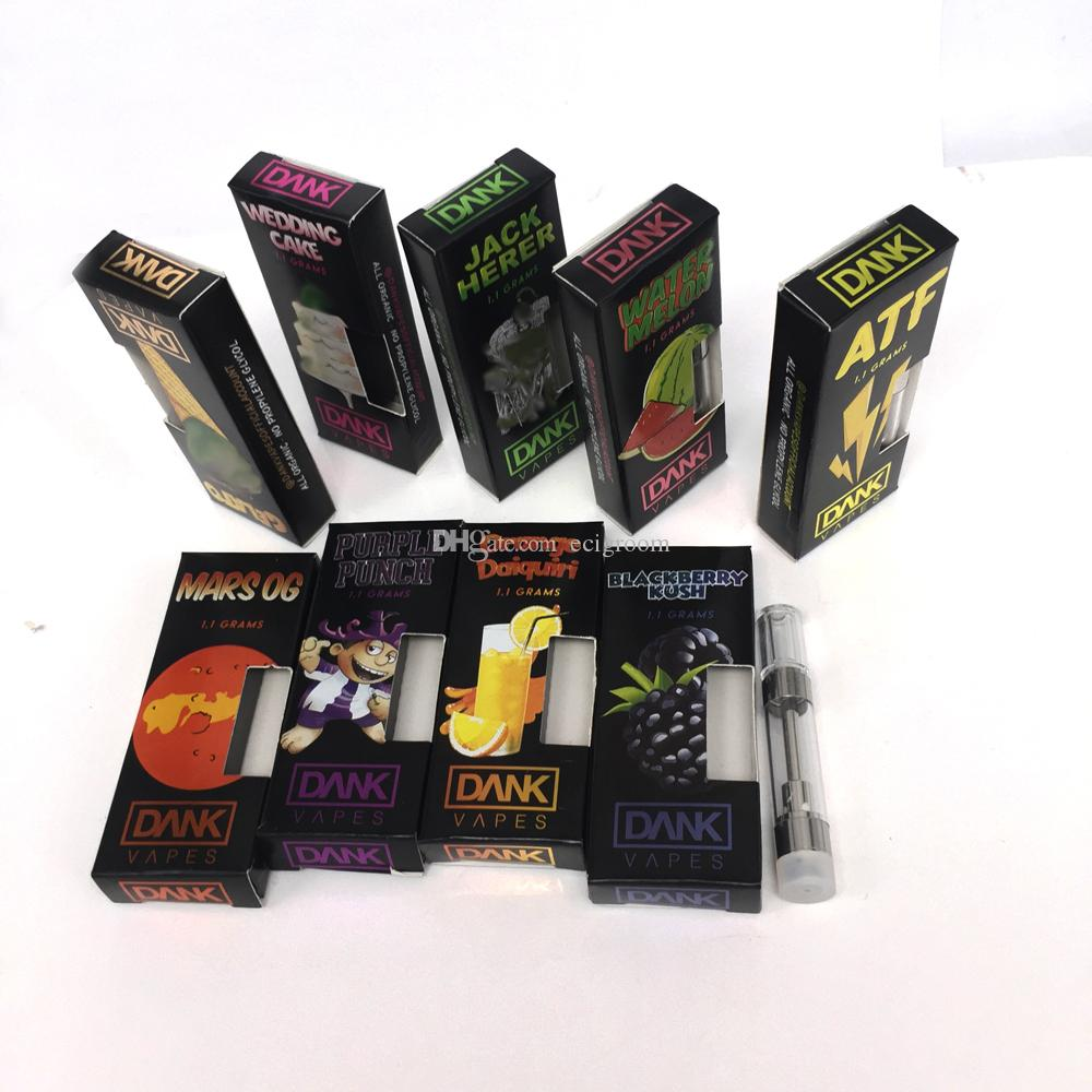 Dank Vapes Cartridges Full Gram M6T Vaporizer Pen Press round Tip  Disposable Carts for Thick Oil Multiple Flavors Opiton black box packaging