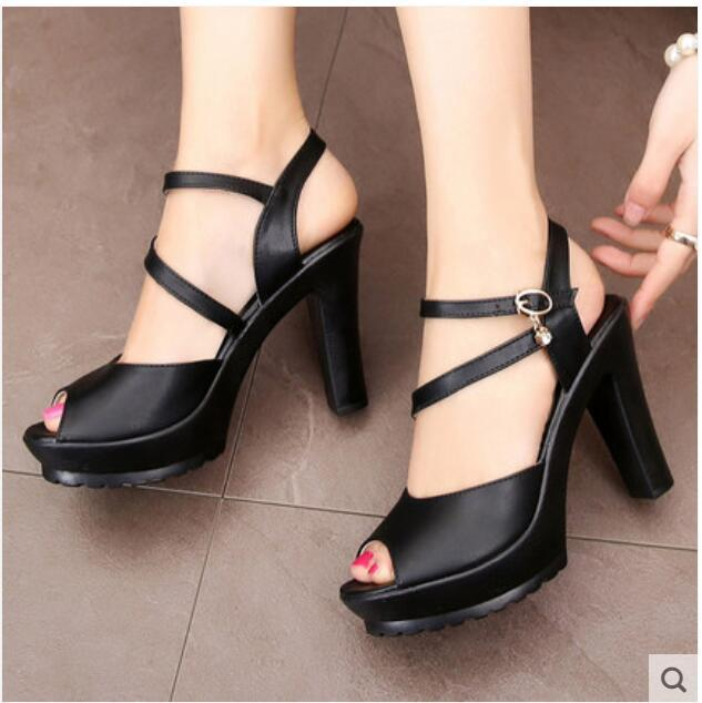 de6de95878f Sexy Summer Fashion High-heel Shoes Womens Piscine Mouth Women s BIG ...