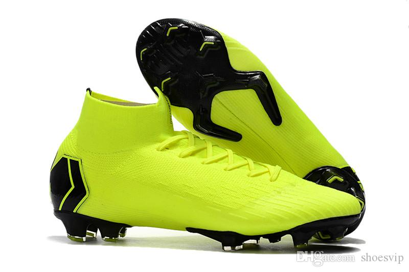 Mercurial Superfly VI 360 Elite Neymar FG Chaussures De Football Hommes  2019 High Ankle SuperflyX VI CR7 Soccer Boots Original Soccer Cleats UK  2019 From ... 1624d97ac05c6