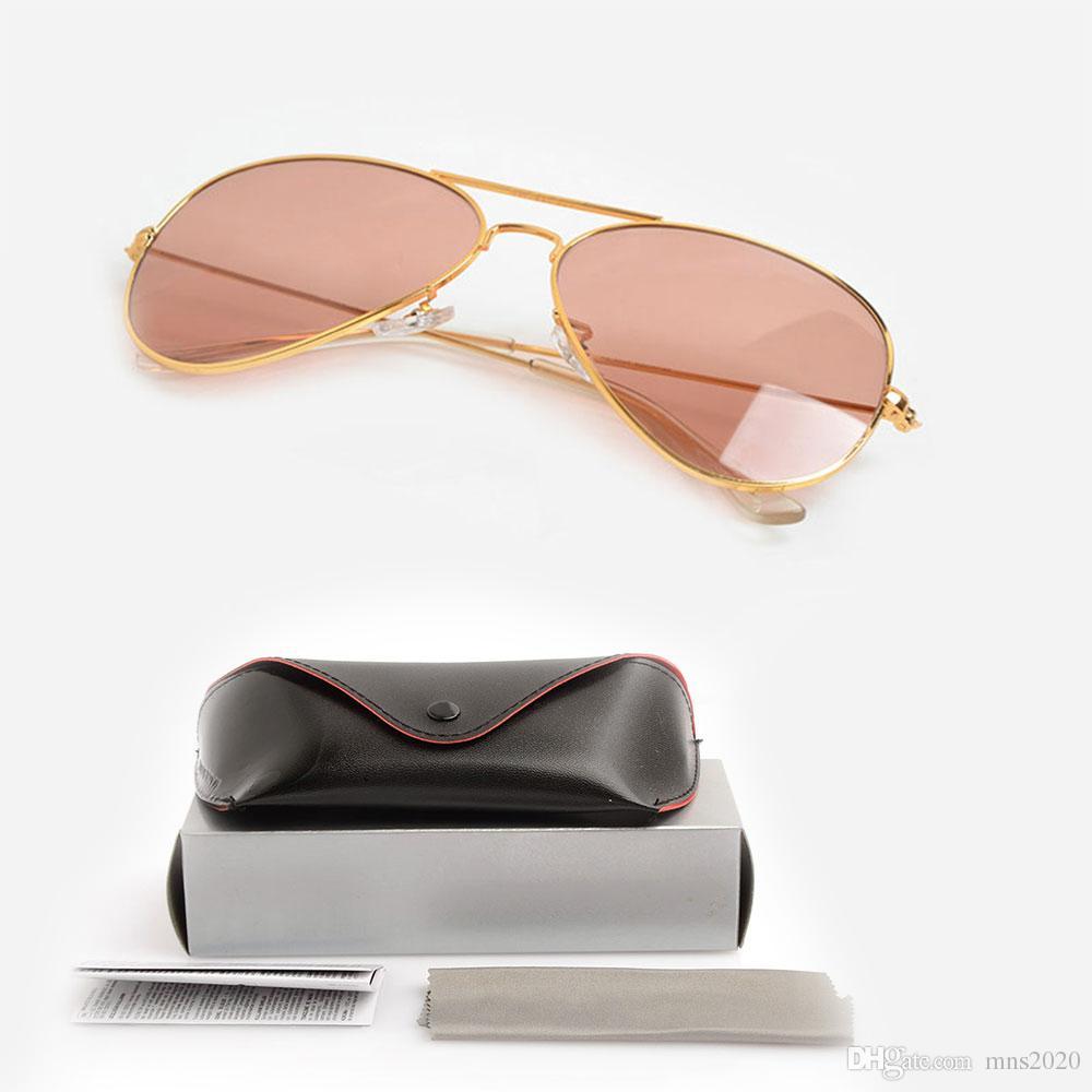 25f48ae11f9c High Quality Pilot Sunglasses Pink Fashion Unisex Sunglasses Womens ...