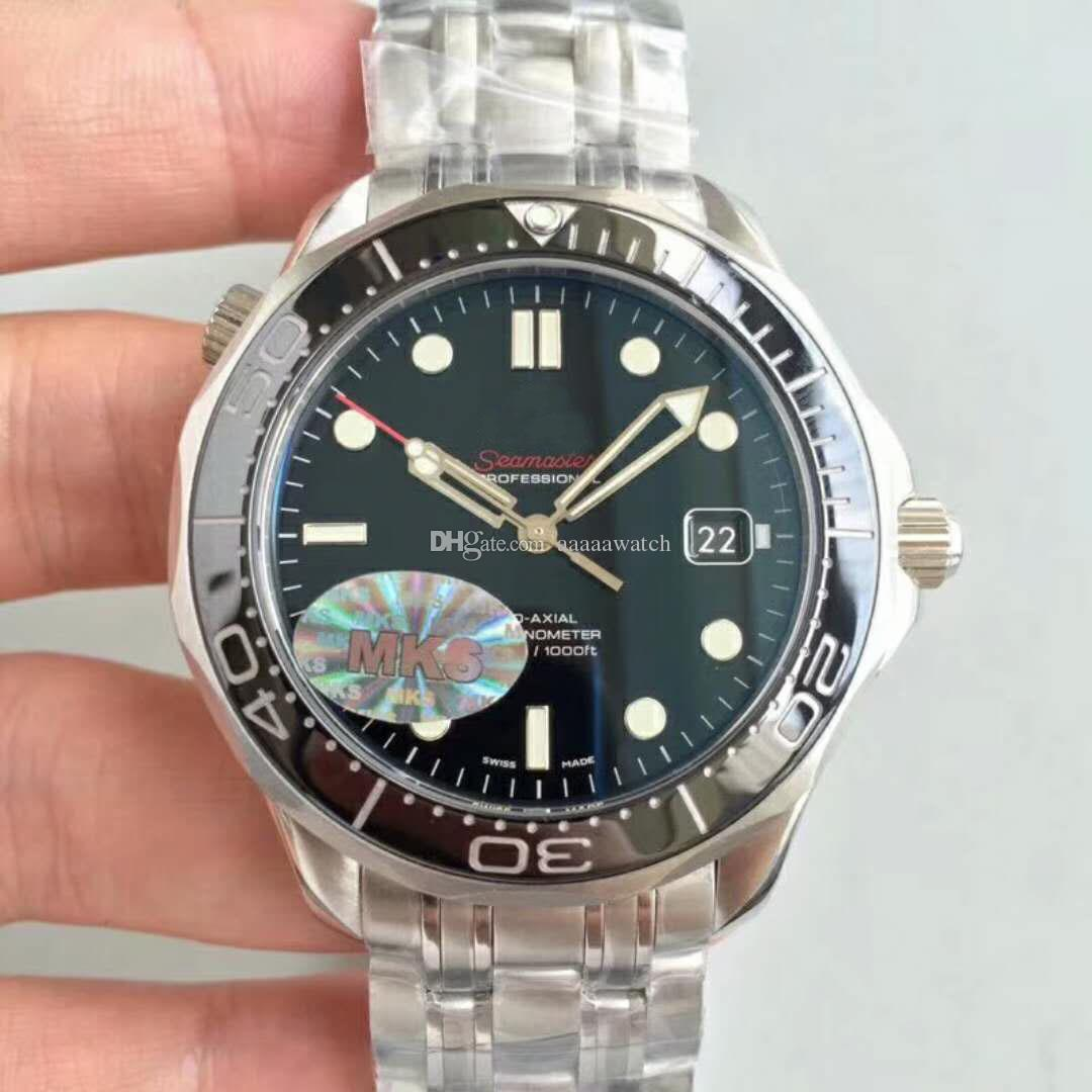 Mks Top 300 M Diving Luxury Mens Watches Swiss 2824 Automatic