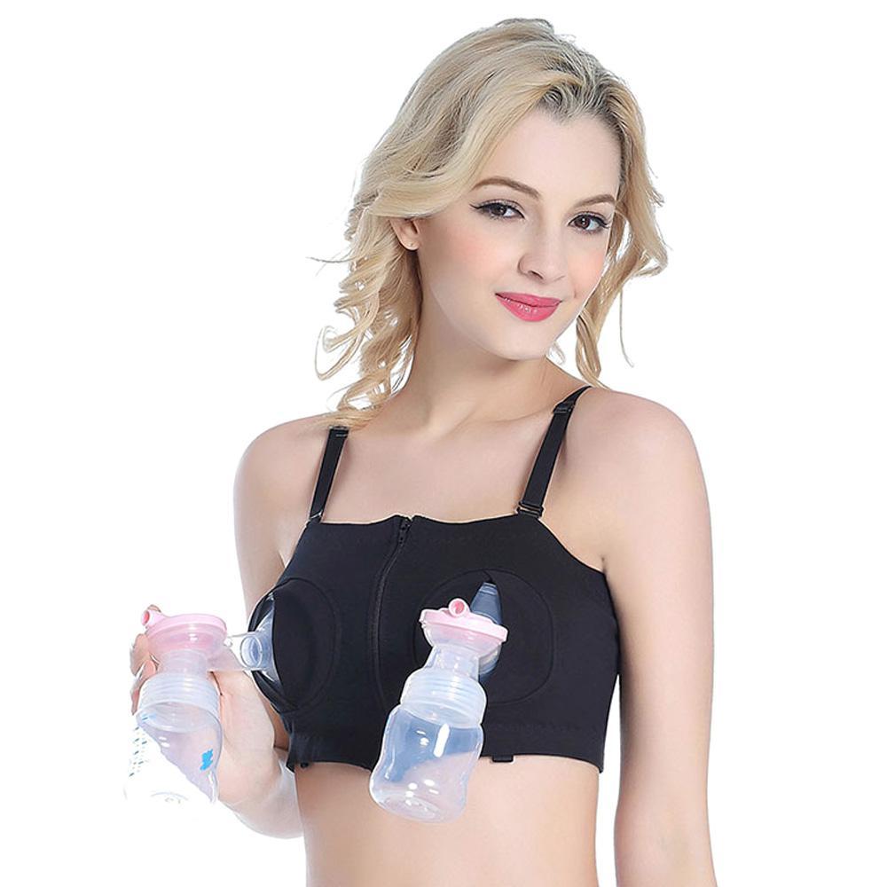 8833ee410e3a8 2019 Breast Feeding Nursing Bra Maternity Hands Free Breastpump Pumping Bra  Adjustable Cotton Breastfeeding For Pregnant Women From Breadfruiter, ...