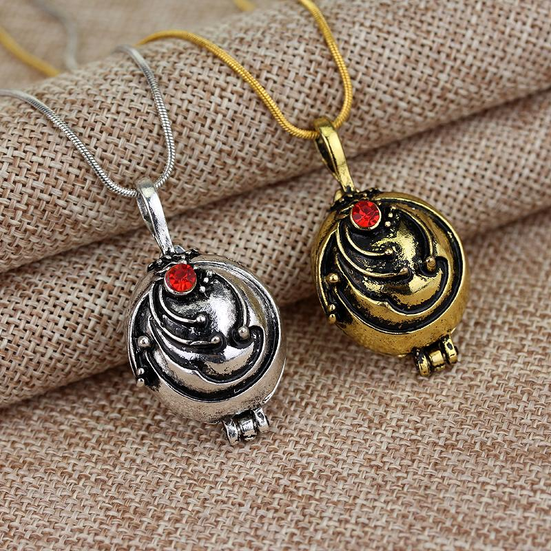Hot TV Vampire Diaries Elena Vervain Necklace Locket Pendant Jewelry Plated Men Women Sweater Charm Gift Dropshipping Wholesale