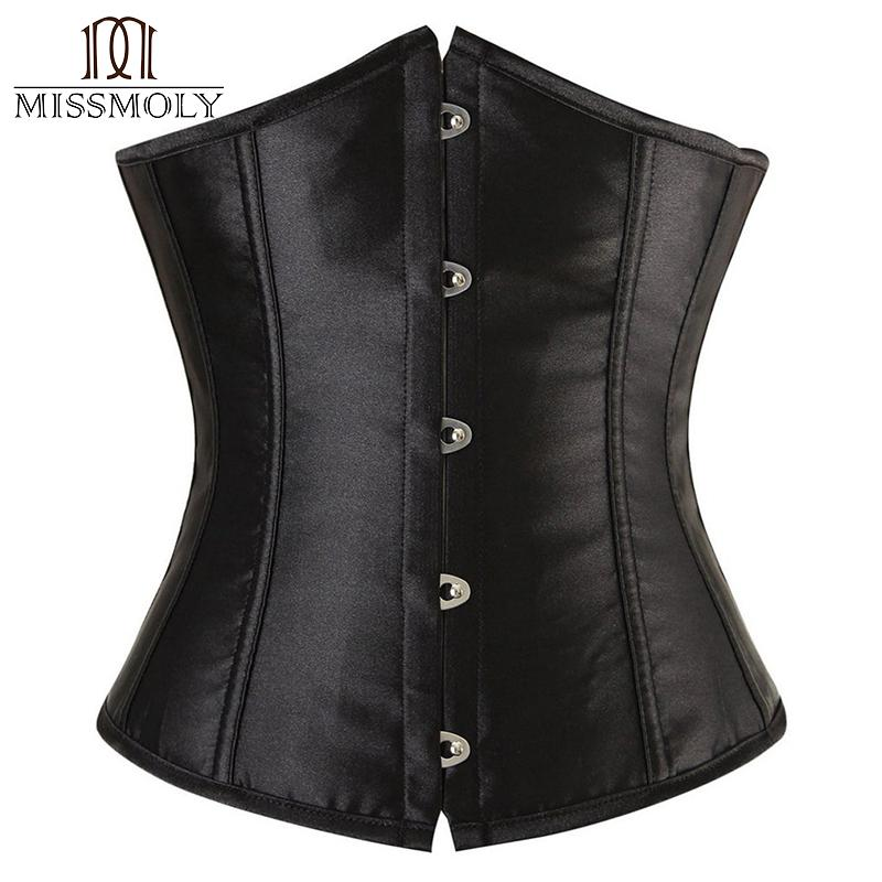 417685330cf85 2019 Miss Moly X Plus Size Sexy Gothic Corset Bustier Waist Trainer  Steampunk Underbust Corset Slimming Satin Embroidered From Yuanbai