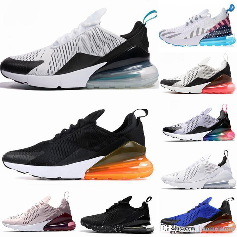 nike air max 270 running shoes 27O TN Cushion Sneakers 2019 Sport Designer Casual Shoes 27O Mens Women Casual Shoes Triple White University Olive